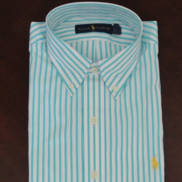 Lauren Cotton Striped Nwt Ralph Shirt Bengal Ls nwOX8k0P